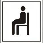sitting down